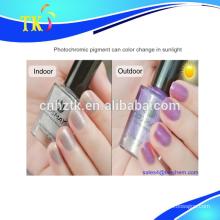Photochromic pigment for nail polish, color change under the uv light/sunlight