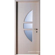 Conception en bois de porte en verre (WX-PW-134)