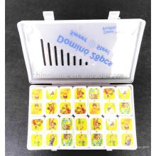 Bunter Karikaturthema-Dominosatz