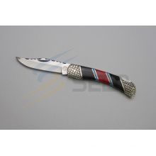 """8.6"""" Resin and Color Stone Handle Folding Knife (SE-494)"""