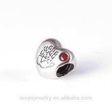 Античный стерлингового серебра сердца очарование с позолоченный шарм сердца Горячие продажи