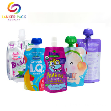 Reclosable+Custom+Baby+Food+Doypack+Pouch+With+Spout