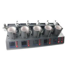 5 in 1 Pneumatic Digital Cup Mug Heat Transfer Printing Press Machine MP150*5