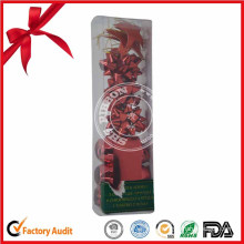 China Manufacture Wholesale Red Ribbon Christmas Bow