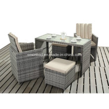 Small Dining Set for Outdoor / Dining Room with PE Rattan / SGS (417-3)