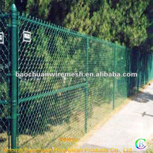 Green highway pvc coating chain link fence