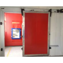 Porta deslizante manual com janela de vidro