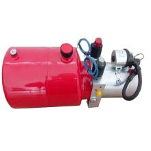 Double action hydraulic power unit for dumper