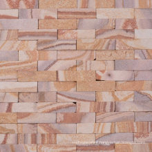Germany Style Garden Wall Decoration Sandstone Mosaic Tiles