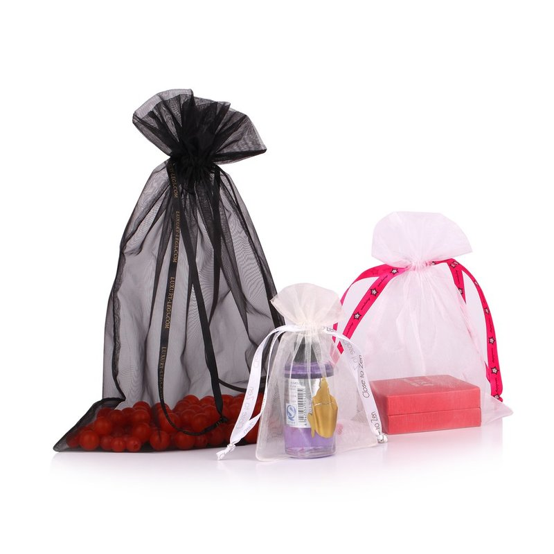 Big Black Organza Bag