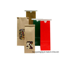 2016 New Design Biscuit biodégradable à l'étain Craft Paper Coffee Bags