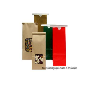 2016 New Design Biscuit biodégradable à l'étain Craft Paper Coffee Bags