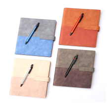 Custom composition business 2021 diary notebook set with pen