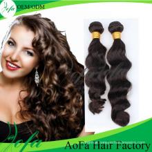 100% Unprocessed Natural Brazilian Virgin Hair Remy Human Hair Weft