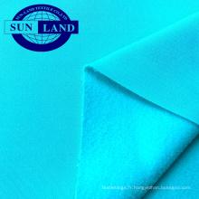 Automne sport gilet manteau vêtement en tissu 100% polyester pleine mate brossé PK jersey tissu polaire