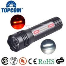 Lanterna elétrica do diodo emissor de luz do ímã recarregável com luz lateral