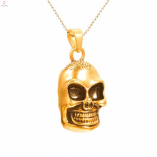 Fashion New Arrival Gold Plated Skull Stainless Steel Pendants