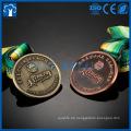 Billig Metall 3D Gold Bronze Silber Gebäude Medaillen