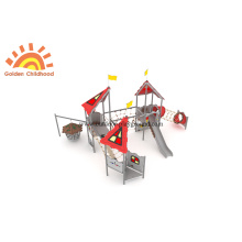 Climbing HPL Outdoor Playground Slide For Children