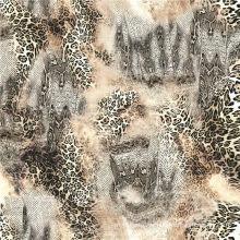Woven Wolle Pfirsich bedruckt Stoff für Frauen Kleid (TLD-053)