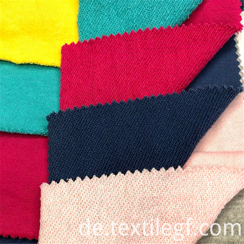 Soft CVC Terry Knitting Hoddies Fabric (5)