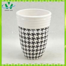 YSb40017-01-t Hot sale decal yongsheng ceramic bath accessory tumbler