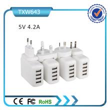 4 USB 5V 4.2A cargador universal USB
