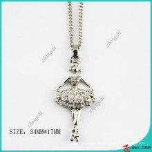 Кристаллы мода Серебряный тон ожерелье девушки балета (Пн)