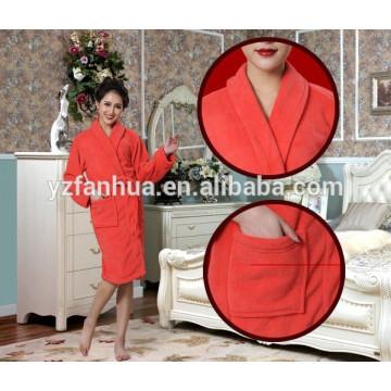 Gute Qualität Coral Fleece Bademäntel für Frauen, Frauen fleece Bademantel Großhandel