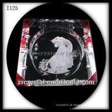 K9 Cinzeiro De Cristal Com Imagem Gravada