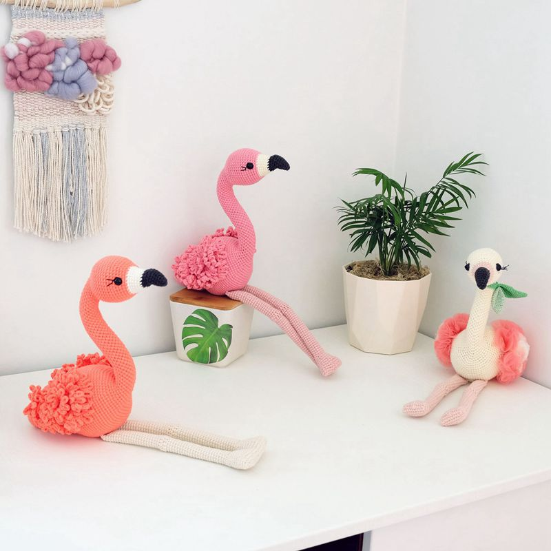 10 4 Crochet Flamingo