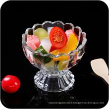 Glass Footed Ice Cream Dessert Dish Bowl.