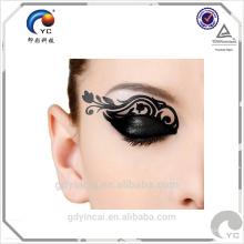 Adorar para adesivos de olho no rosto, etiqueta de tatuagem de moda de festa com impressão temporária à prova d'água