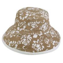 Chapéu feito sob encomenda de Sun da impressão das mulheres / chapéu da praia / chapéu da cubeta / chapéu flexível