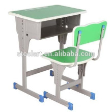 Factory directly sale wooden and metal wood desk chair school