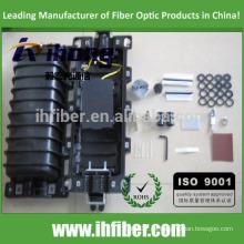 Cierre de empalme horizontal / en línea de fibra óptica de 2 en - 2