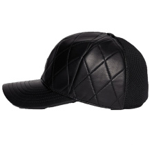 Low Price Standard Black Leather Baseball Cap