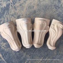 pies de gabinete de talla de madera