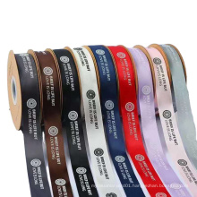 Hot selling wholesale barcode printed thermal printing textile fabric label color fabric satin ribbon