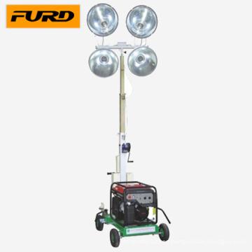 Torre de luz montada en el vehículo del generador de gasolina Honda (FZM-1000B)