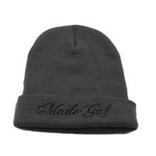 Custom Made Embroidery Logo Cheap Promotional Knit Cap