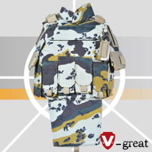Six Color Desert Camo Bulletproof Jacket with Pouches in Front