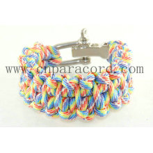 bracelete do paracord do camo do arco-íris 2013 cor e comprimento novos do oem do estilo