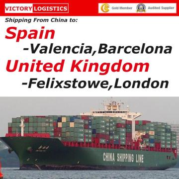 Ocean Shipping From China to Spain/UK