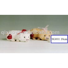plush&stuffed piggy with heart,soft valentine animal toy