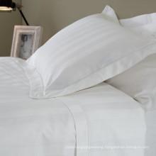 100% Cotton Satin Strip Bedding Linen for Hotel / Home (WS-2016345)