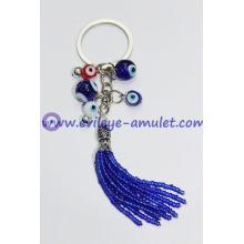 Handmade Multicolor Evil Eye Beads Keychain