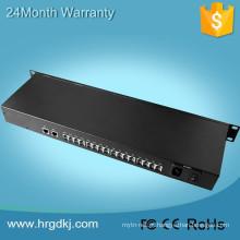 Hot design de equipamentos de comunicação de 16 portas de áudio digital de vídeo de fibra de telefone multiplexador óptico