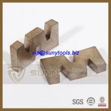 W форма Вырезывания Диаманта лезвия сегмента для обрезки гранитных плит