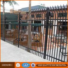 Cerca de hierro forjado residencial al aire libre ornamental